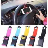 Holder Hp Handphone Android Docking Stir Mobil Car Steer Hold Jepit