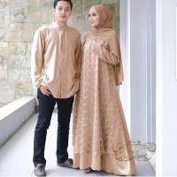 Baju Gamis Wanita Set Cp Megan Jevanya Syari Couple Tile Muslimah