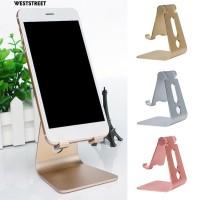 Holder Handphone Portable Bahan Aluminium Alloy untuk Meja Kantor