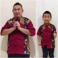 Couple baju cina batik imlek lengan pendek faldo ayah anak