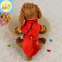 baju imlek anjing dan kucing baju cheongsam anjing dan kucing IMLEK002