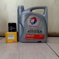 Paket Oli Total SAE 0W-20 FS 3L + Filter Oli Datsun Go/ Nissan March
