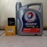 Paket Oli Total 5W-30 + Filter Oli MARCH / DATSUN GO/ GO+ PANCA