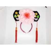 Bando Imlek Putri Huan Zhu Cina 2 Muka Bunga Hitam Merah
