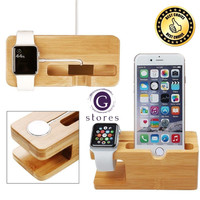 Wood Charge Dock Station for Iphone 6 7 8 X / Plus and Apple Watch G08