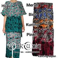 Setelan Celana Panjang Batik Cap / Baju Tidur Piyama Bati Cap PBC01