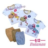 Setelan Bayi Laki Laki 6 bulan -1 tahun Stelan Baju Pakaian Baby