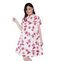 Orchid Dress in Red - Beatrice Clothing