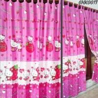 Hot Produk Hordeng Karakter Hello Kitty 3D Korden Pembatas Ruangan