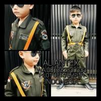 Baju Pilot Tempur Anak/ Baju Profesi Anak /Kostum Anak - 3-4 Tahun