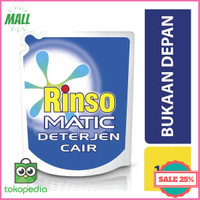 Jual RINSO MATIC Detergent Liquid Front Load 1600ml Limited