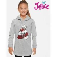 Baju Anak Sweatshirt Hoodie Justice Sequin - Size 7y