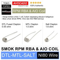 ' Coil for RPM RBA - Vinci X - Artery Nugget   kawat ni80 clapton '