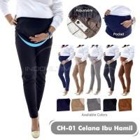 Celana Kerja Panjang Kain Katun Kantor leging baju ibu hamil CH-01