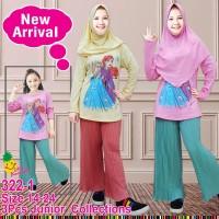 Little Pineapple Baju Muslim Anak Frozen Kulot Plisket 322-1