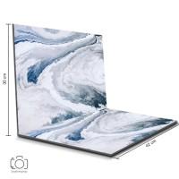 Alas Foto Lipat Marmer Biru 42x30 cm / Background Foto marble (ML-11)