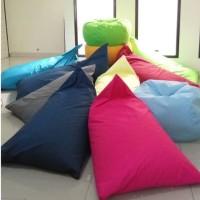 Beanbag Triangle size L (Include sterofoam) - Bean Bag - Termurah