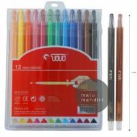 Crayon TiTi Twist Crayon Putar 12 Warna TI-CP-12 Mini