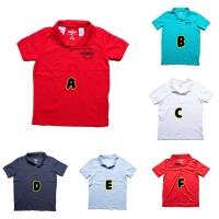 Polo Shirt Anak Polos Merk Oshkosh Size 3 - 14 Tahun