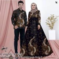 batik gamis couple muslimah batik pasangan baju pria wanita terbaru