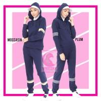 Setelan Baju Senam Muslimah Kaos Olahraga Wanita Muslim Zumba Cewek