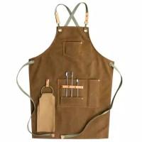 MONOLOG CUSTOM Canvas Leather Apron Celemek Kanvas Barista Waiter