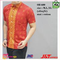 Termurah Baju Batik Oriental Pria Kemeja Fashion Imlek Lengan Pendek