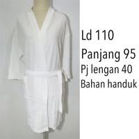 Baju Handuk Kimono Mandi Berenang dewasa putih polos Hotel NIN12 Mura
