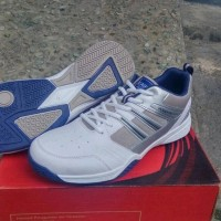 Sepatu Sport Tennis Eagle Manhattan Silver Blue Original Asli