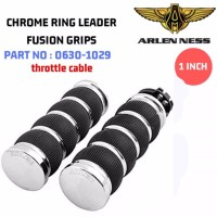 ARLEN NESS CHROME RING LEADER FUSION GRIPS 1 INCH 0630-1029