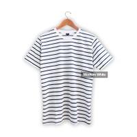 Baju pria | Baju Wanita | Kaos belang Tangan Pendek Stripe Putih