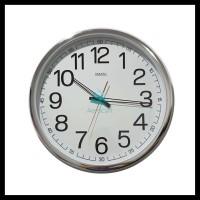 JUAL Grab Oke Jam Dinding Sakana 715 Warna Putih Chrome