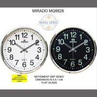 JUAL Hot Sale - Jam Dinding MIRADO MQ-8828 - Hitam