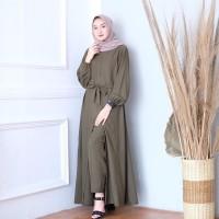 Baju Gamis Wanita Tania Set Setelan Celana Muslim Muslimah