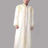 Baju jubah luar habaib nikah india pria - S-xl