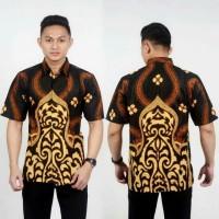 Baju Batik Pria   Kemeja Batik   Hem Batik Motif Daun No 9