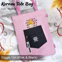 KUKE Tas Totebag Wanita / Tas Selempang / Totebag Korea Style
