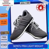 Iggo Sepatu Lari pria / Sepatu Light weight Running Shoes - Grey