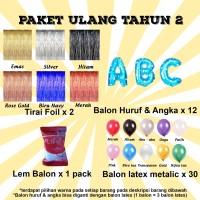 Paket Ulang Tahun 2 / Paket Balon Ultah 2 / Paket Balon Huruf & Angka