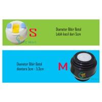 Tutup Botol Termos Air Panas Stainless/ Air Minum Tumbler Air - S