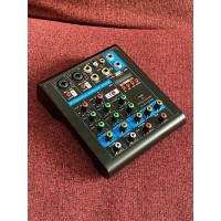 USB Mini Portable Live Audio Mixer Karaoke DJ 4 Ch Bluetooth Connect