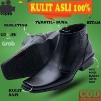 SEPATU SAFETY KING PRIA BOOTS BOOT PRIA KULIT ASLI HIKING DOCMART BM47
