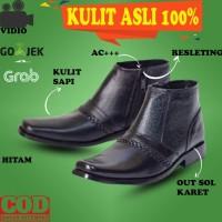 SEPATU SAFETY BOOT PRIA BOOTS KULIT ASLI KICKERS DOCMART HIKING 4GS