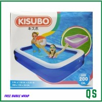 Kolam Renang Anak Kisubo Kotak 2 Meter - Biru