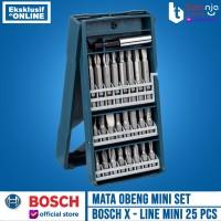 BOSCH MATA OBENG SET MINI 25 PCS X-LINE SCREWDRIVER BITS SET 25 PCS
