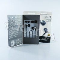 Pioneer CH3 SE-CH3T High Resolution In-Ear Earphones ORIGINAL - Hitam