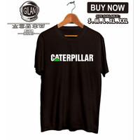 Kaos Baju Caterpillar Logo Simpel Alat berat - Gilan Cloth - Hitam, S
