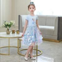 Jual Baju Princess Elsa Frozen Sequin Dress Anak Perempuan
