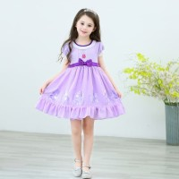 Baju Anak Dress Sofia The First Gaun Casual Sofia Ungu