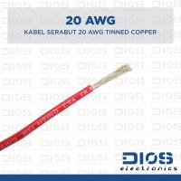 Kabel 20 AWG Serabut Tembaga Putih / Tinned Copper MERAH (per meter)